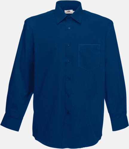 Marinblå Long Sleeve Poplin Shirt