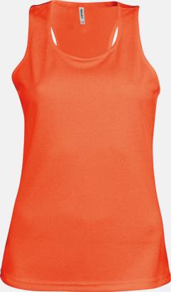 Floucerande Orange Linnen av funktionsmaterial med reklamtryck