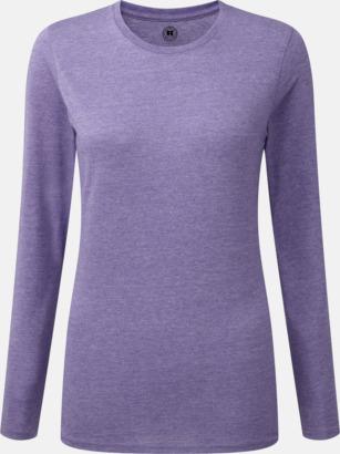 Purple Marl (dam) Färgstarka långärms t-shirts i herr-, dam och barnmodell