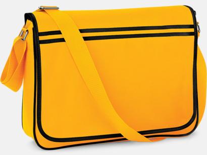 Gold/Svart Reklamväska för laptop med reklamtryck