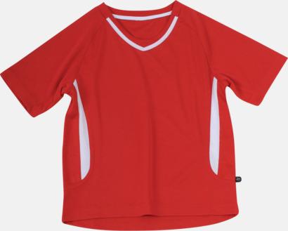 Röd / Vit Snabbtorkande funktionströja med eget tryck eller bordyr
