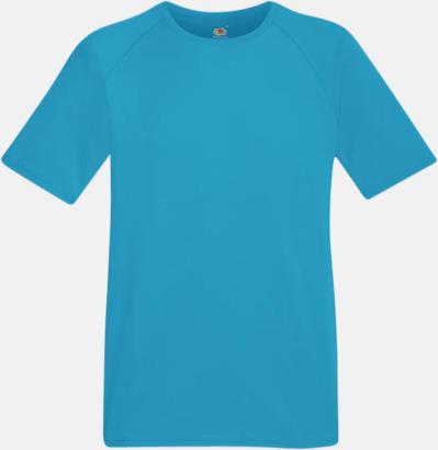 Azure Blue (herr) Funktionströjor för herr, dam och barn - med reklamtryck