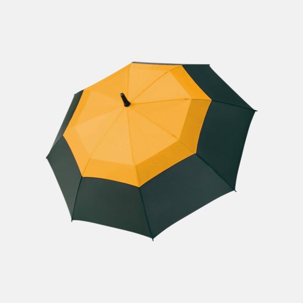 Svart / Orange Paraplyer med eget tryck