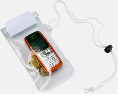 Vit / Transparent Billiga, vattenavvisande mobilfodral med tryck