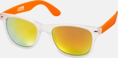 Orange Snygga och säkra solglasögon med färgade linser - med reklamtryck