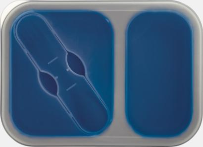 Blå Silikonmatlådor med reklamtryck
