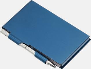 Blå Notisblock med penna