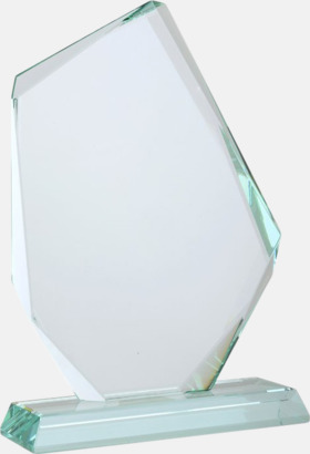 Juvel Vackert formade statyetter i kristall med reklamtryck