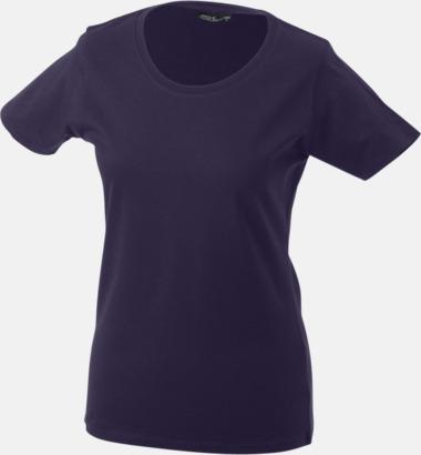 Aubergine T-shirtar av kvalitetsbomull med eget tryck