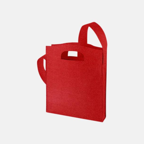 Röd Axelkassar i filt med reklambrodyr