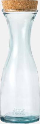 Transparent Serveringskaraff av 100 % återvunnen glas - med reklamlogga