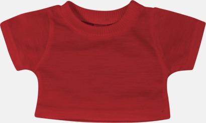 Röd (enfärgad) Enfärgade t-shirts eller med färgad kant - med reklamtryck