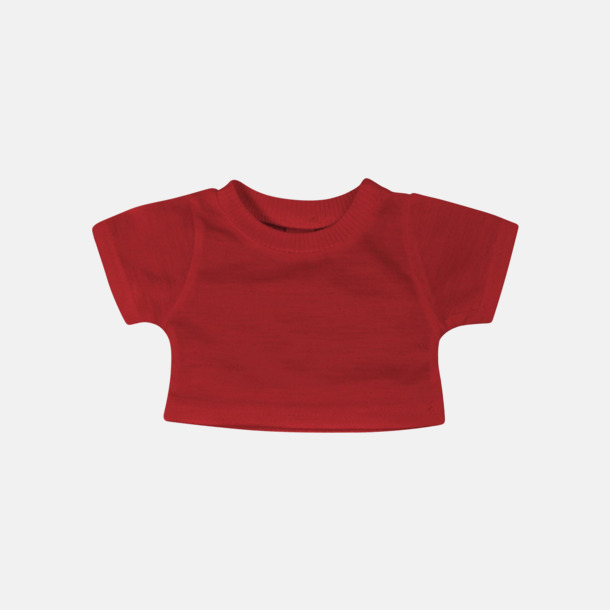 Röd Enfärgade t-shirts för gosedjur - med reklamtryck