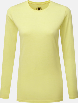 Yellow Marl (dam) Färgstarka långärms t-shirts i herr-, dam och barnmodell