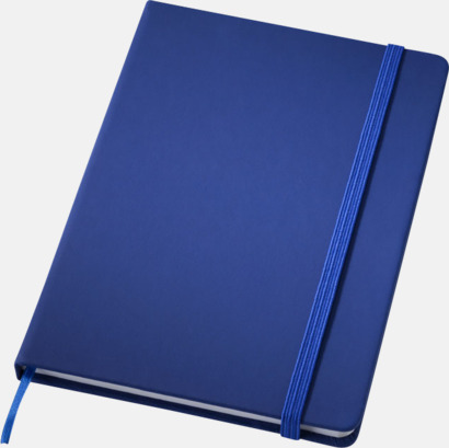 Mörkblå (medium) Notisblock med PVC-omslag - med tryck