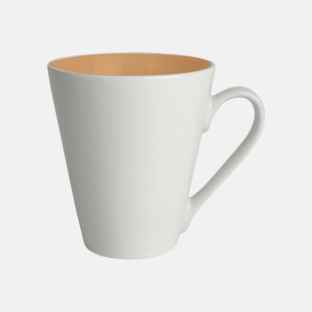 Orange / Vit Kaffemuggar med färgad insida