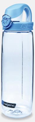 Transparent/Blå Enhandsvänlig vattenflaska