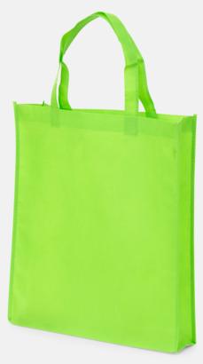 Lime (PMS 375) Non wovenkassar med reklamtryck