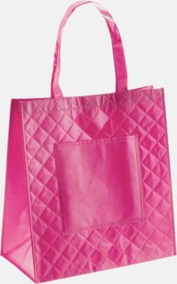 Rosa Väska i laminerad non-woven med reklamtryck
