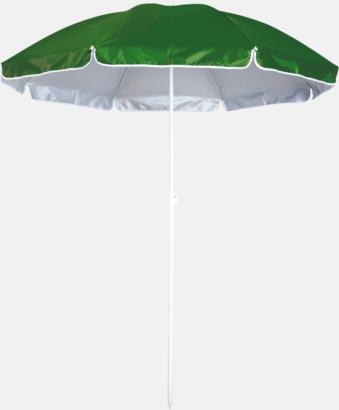 Grön Parasoller för stranden med reklamtryck