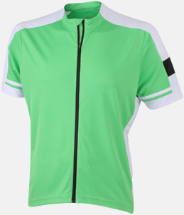 Grön (herr) Herr- och damcykeltröjor med hel dragkedja - med reklamtryck