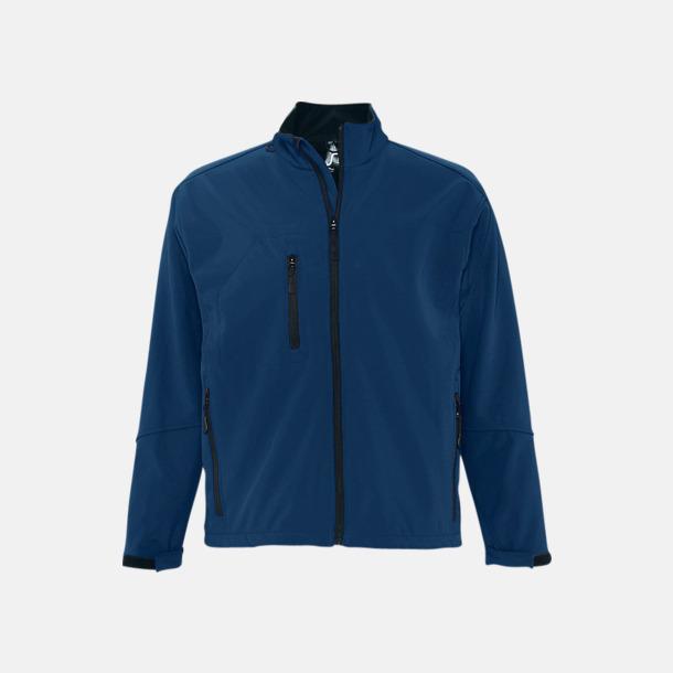 Abyss Blue (herr) Softshell jackor i herr- & dammodell med reklamtryck