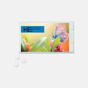 Askkort med sockerfritt mintgodis - med reklamtryck