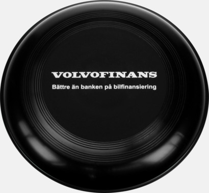 Svart Frisbees med reklamtryck