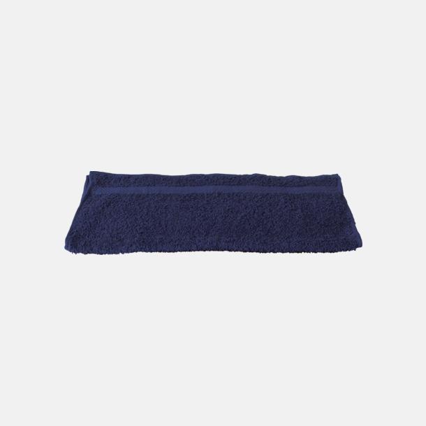 Marinblå Gymhandduk med egen brodyr