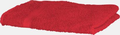 Röd Exklusiva handdukar med egen brodyr