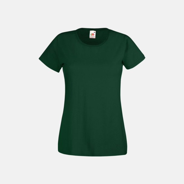 Bottle Green Figursydd damt-shirt med reklamtryck