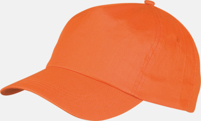 Orange Sportkepsar av bomull med reklamtryck