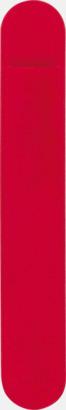 Röd Pennfodral i sammet med tryck