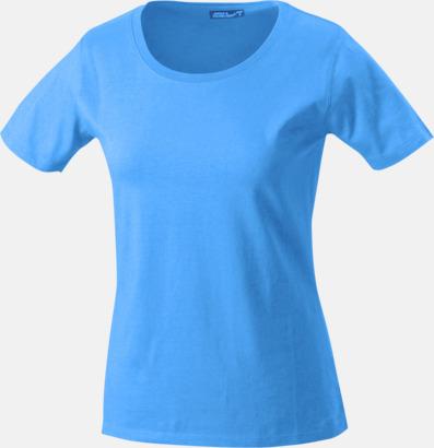 Aqua T-shirtar av kvalitetsbomull med eget tryck