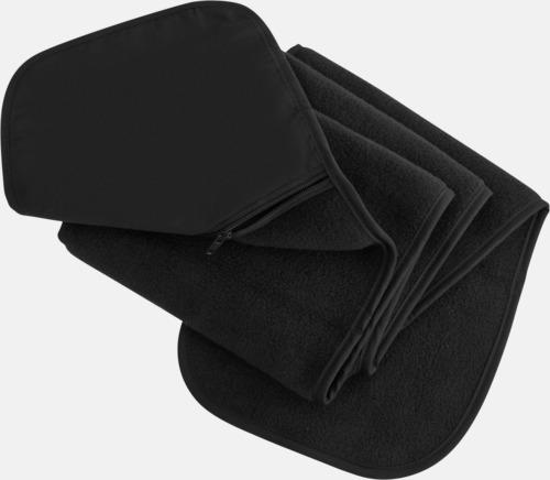 Svart Halsduk med praktisk ficka - med reklamtryck