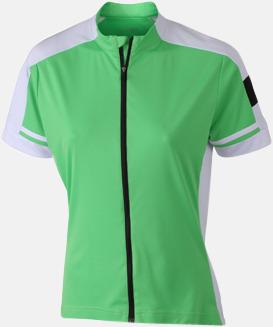 Grön (dam) Herr- och damcykeltröjor med hel dragkedja - med reklamtryck