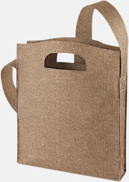 Brown-Sprikle Axelkassar i filt med reklambrodyr