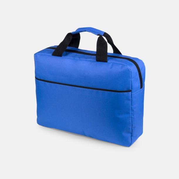 Blå Dokumentväska med reklamtryck