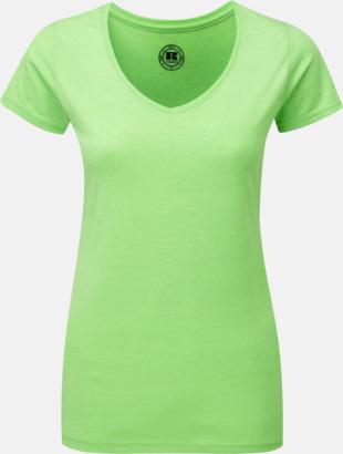 Green Marl (v-neck dam) Färgstarka t-shirts i herr- och dammodell med reklamtryck