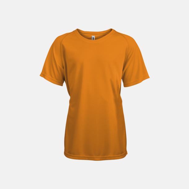 Orange Funktions t-shirts i många färger för barn - med reklamtryck