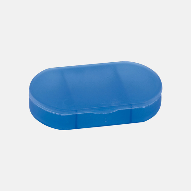 Blå Ovala askar med 3 fack - med reklamtryck