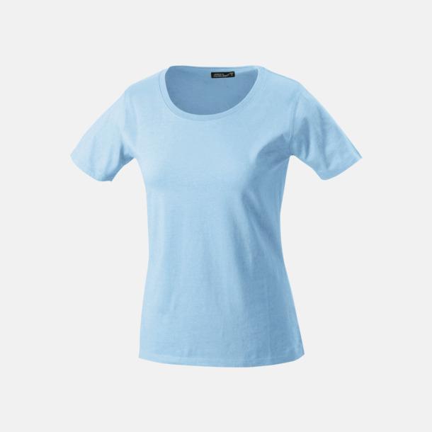 Ljusblå T-shirtar av kvalitetsbomull med eget tryck
