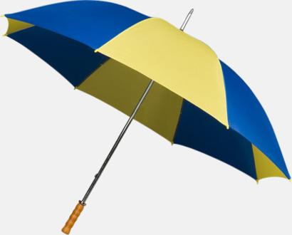 Golfparaplyer med ergonomiska trähandtag
