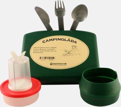 Grön Campingkit med tryck