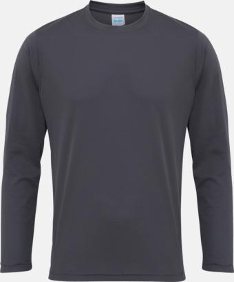 Charcoal (endast unisex) Unisex tränings t-shirts med långa ärmar - med reklamtryck