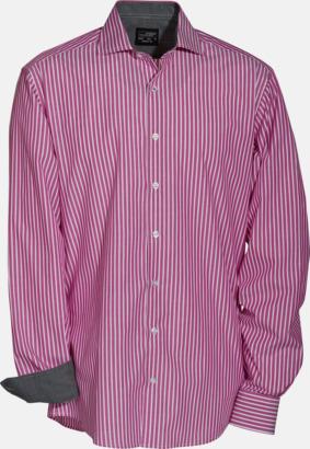 Blusar & skjortor i randigt mönster med reklamtryck