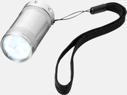 Silver Små ficklampor med reklamtryck