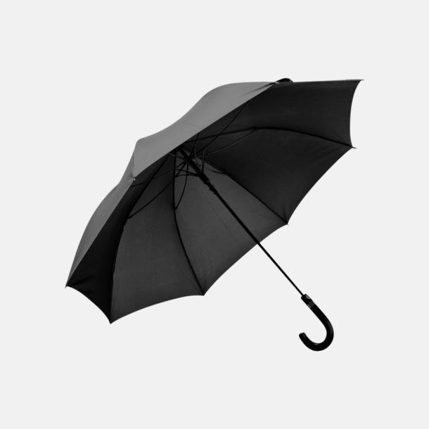 Svart Paraplyer från från Mauro Conti med reklamtryck