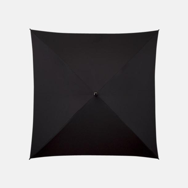 Svart Fyrkantiga Paraplyer med eget tryck