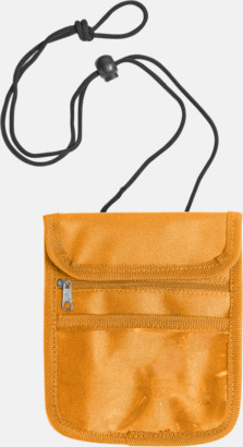 Orange Reseplånbok med eget tryck